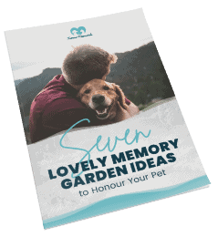 Free eBook: Seven Lovely Memory Garden Ideas to Honour Your Pet